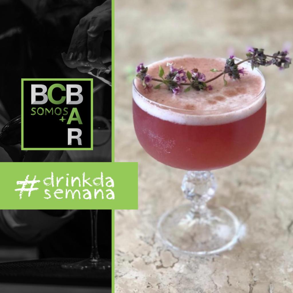 Somos + Bar Maio: drink Ginberry, criado por Guilherme Balle de Porto Alegre/RS